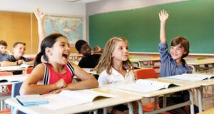 students actively participate in class discussions
