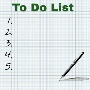make use of to-do list to keep organized