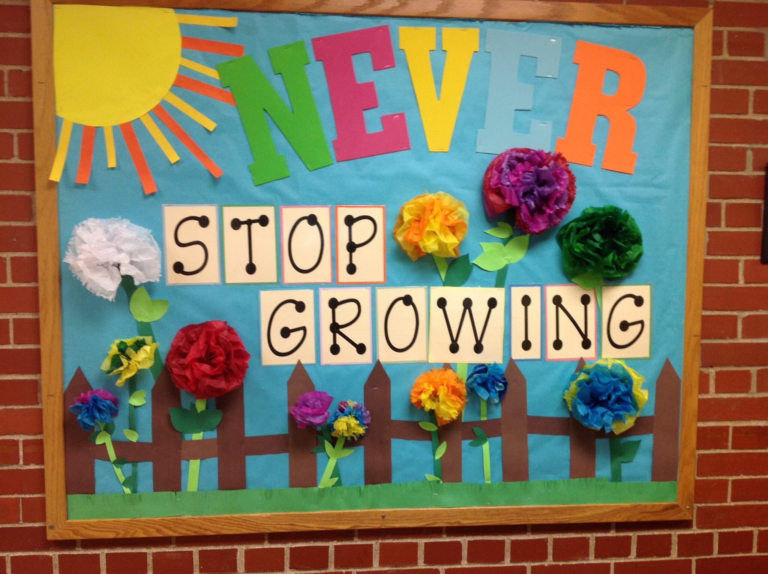 encouraging bulletin board