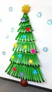 creative Christmas tree on the wall