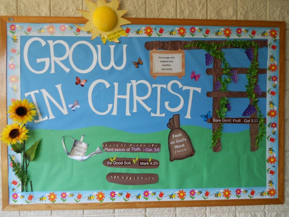 showing Bible verses in the bulletin board