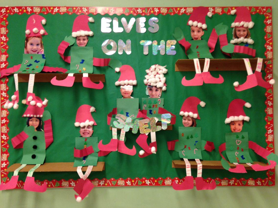 cutout elves on the wall