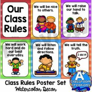 posting classroom rules