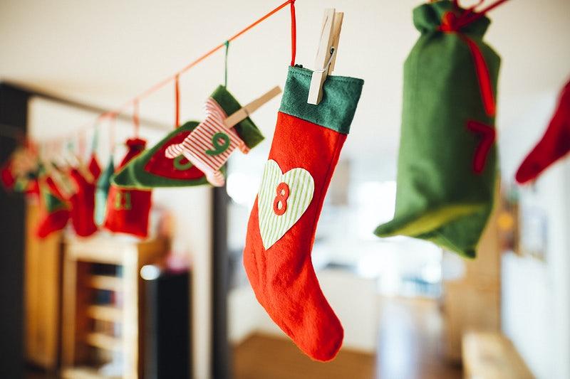 making use of colorful christmas socks