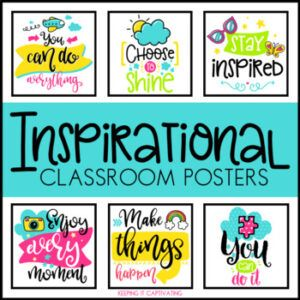 using inspirational classroom posters