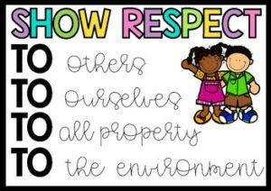 showing respect post