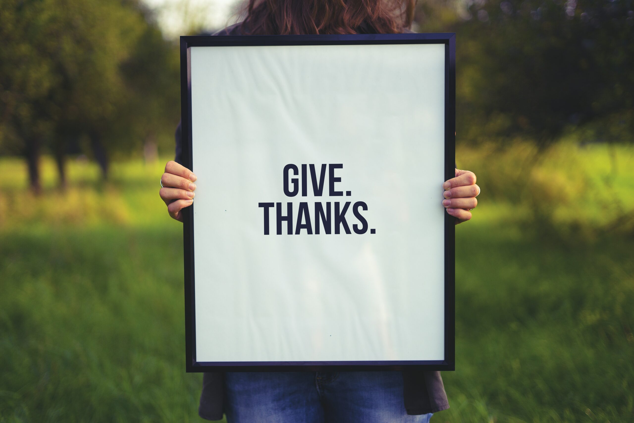 """framed """"give thanks"""" for teacher appreciation day"""