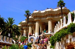 visiting Parc Guell in Barcelona