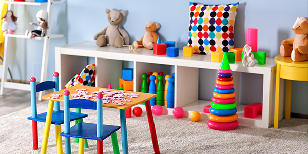 fun educational toys children can use in the classroom: stuffed toys, blocks, shapes, and more