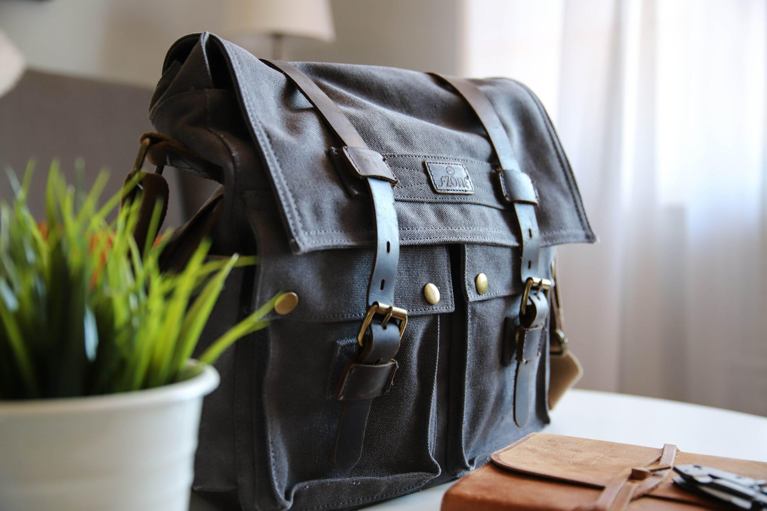 a teacher using a satchel backpack