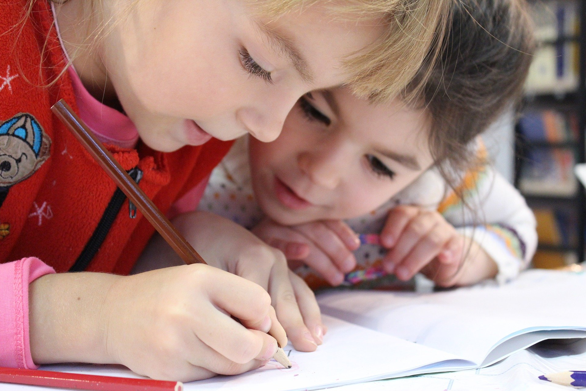 kids learning how to read and write
