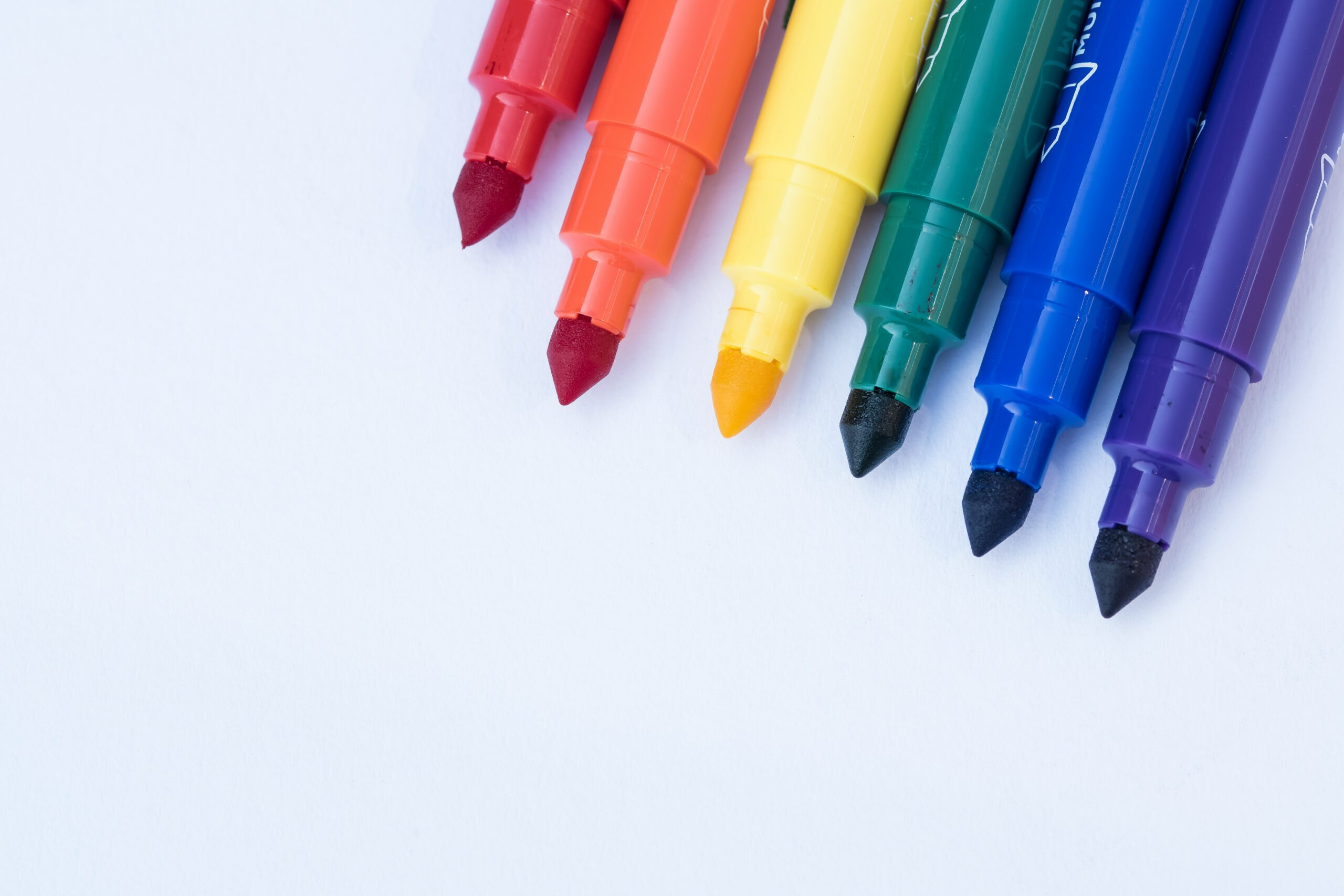 colorful dry erase markers
