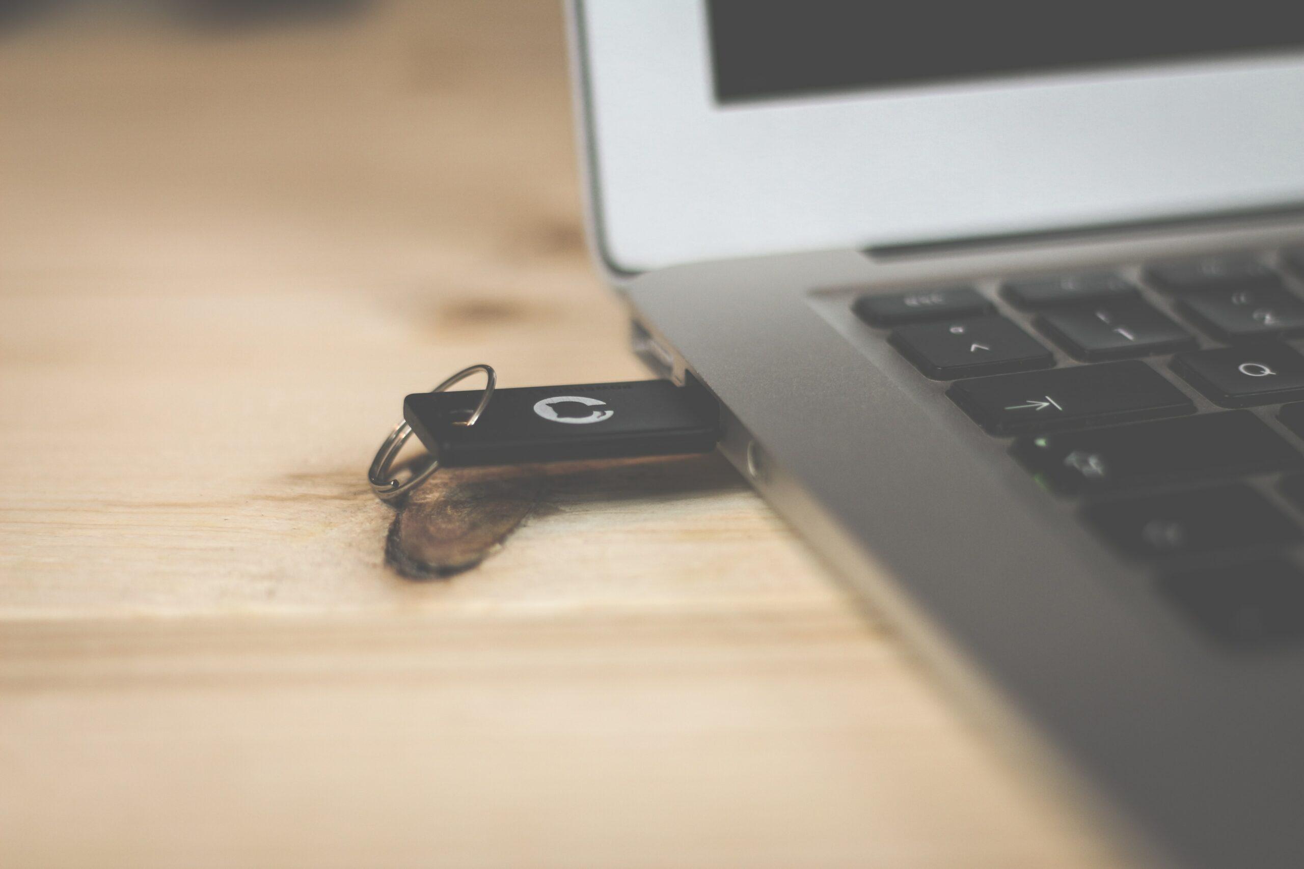 A teacher's flash drive