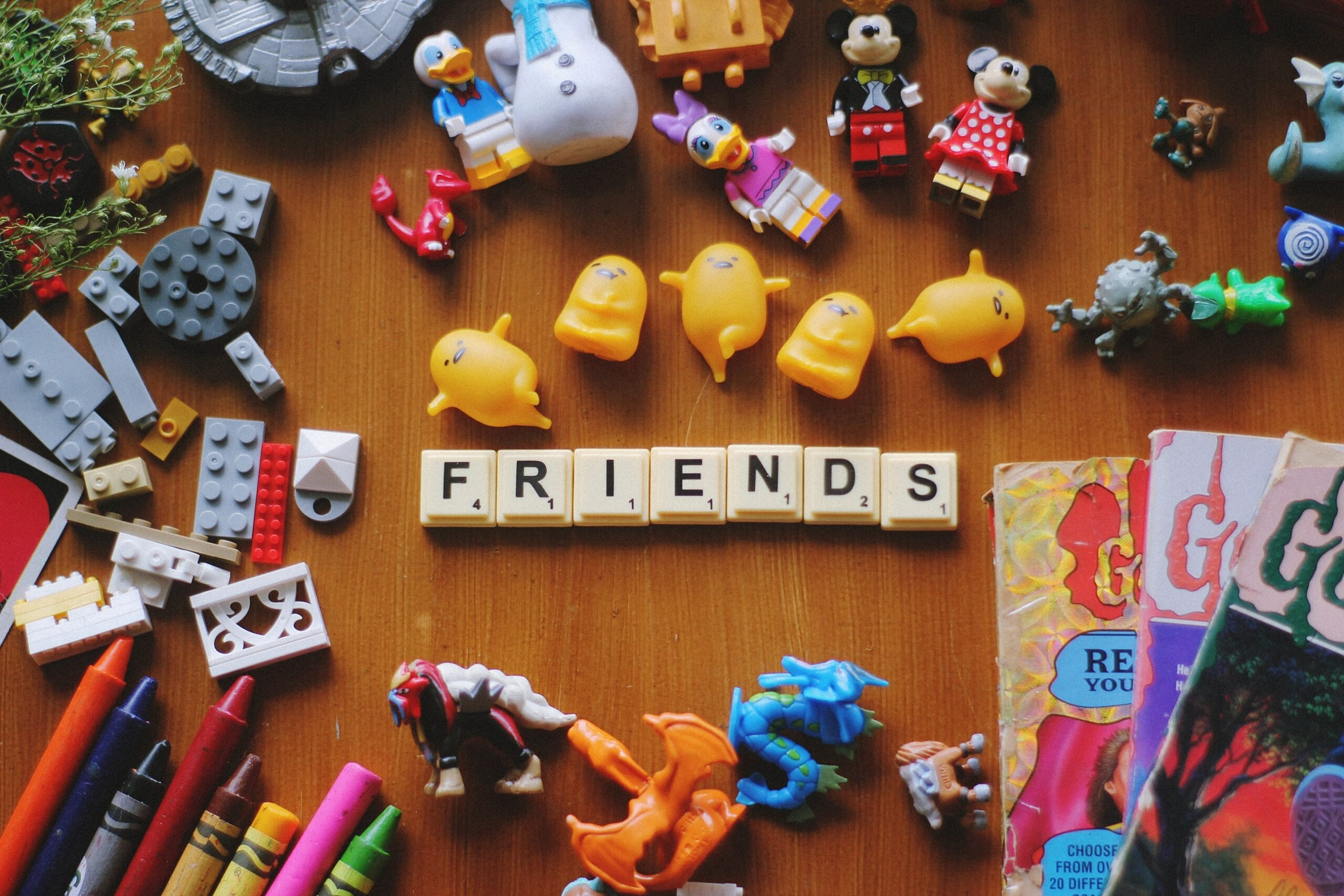 """scrabble pieces forming the word """"friends"""""""