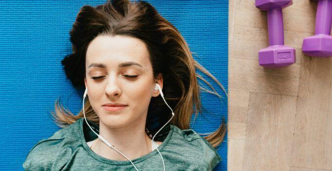 teacher listening to music