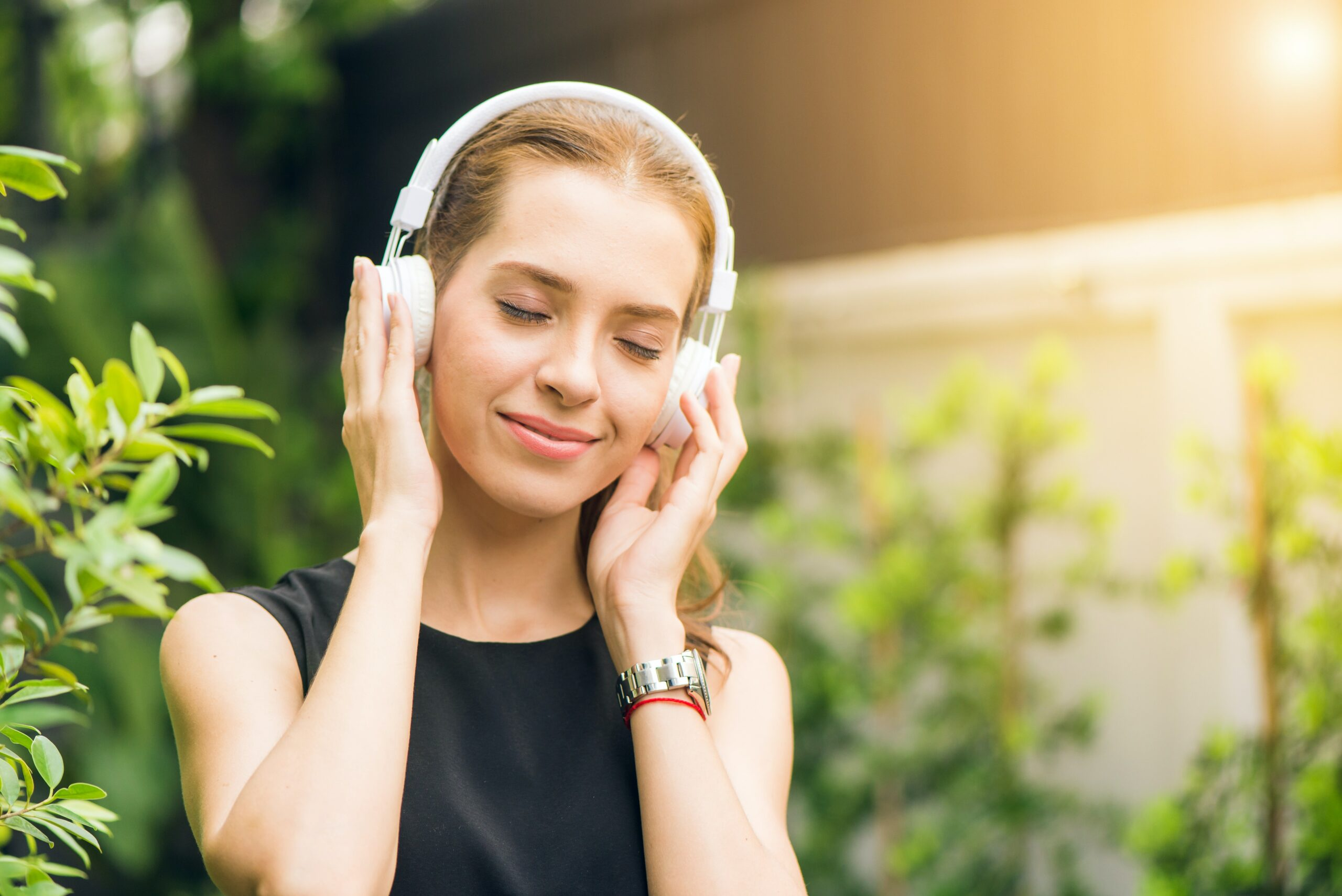 listening to music to get relief from stress