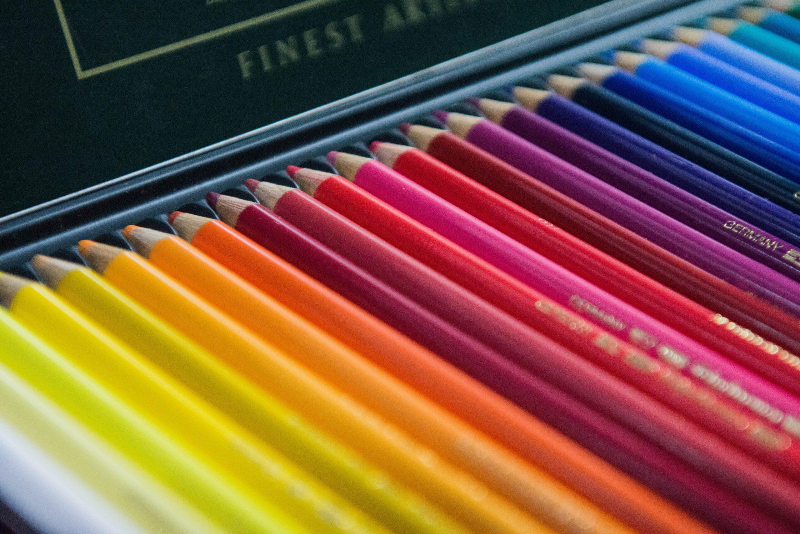 a set of coloring pencils