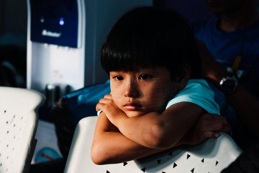 child with low self-esteem
