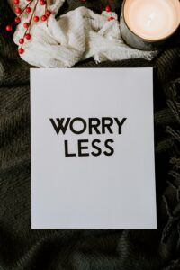 avoid worrying